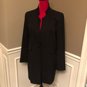 Zara Basic Double Lapel Frock Long Blazer/Jacket